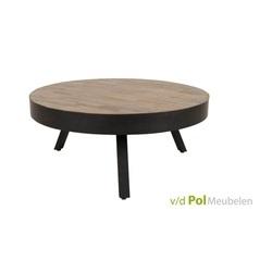 salontafel-suri-o74-cm-koffietafel-bijzettafel-rond-zuiver-metalen-driepoot-teakhout-zwart-gelakt-industrieel