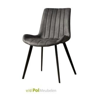 eetkamerstoel-eljas-antraciet-metaal-kunstleder-fabric-verticaal-stiksel-stoel-industrieel-stoer