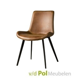 eetstoel-almeria-kunstleder-fabric-zwart-zwarte-metalen-poot-industrieel-stoer-kuipstoel-lichtbruin-cognac