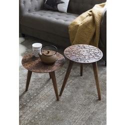 set-2-bijzettafels-by-hand-zuiver-tafel-salontafel-koffietafel-hoektafel-rond-driepoot-hout-sheesham-wood-motief-donkerbruin