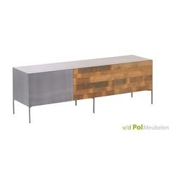 modern industrieel tv meubel pandora gerecycled teak hout en metaal 166 cm