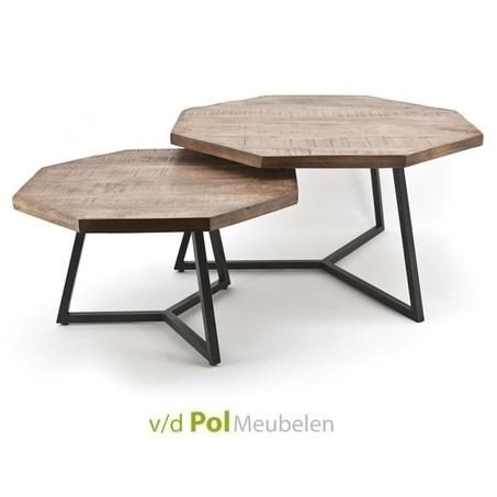 set-2-bijzettafels-octagon-hout-metaal-achthoekig-tafelblad-achthoek-zwart-onderstel-natuurlijk-hip-modern-industrieel-setje-tafeltjes-bijzettafeltjes-salontafels
