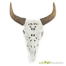 Wanddecoratie Ox Skull wit