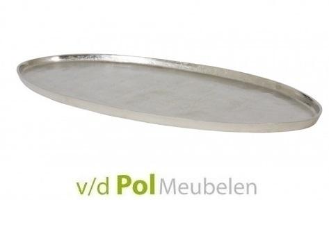 Dienblad nikkel ovaal