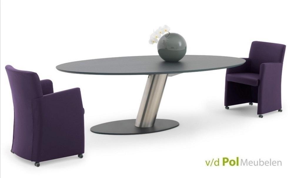 Eettafel Libra ovaal 210/225/240 cm