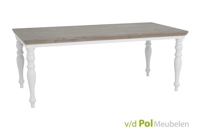 Witte Klassieke Eettafel.Eettafel Fleur 160 180 200 220 240 Cm