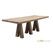 Vermeer tafel Benz eikenhout middenpoot