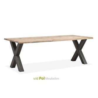 beuken-eettafel-x-poot-160-190-220-cm-metalen-onderstel-industrieel-boomstamblad-beukenhout-natuurlijk-organisch-maxfurn