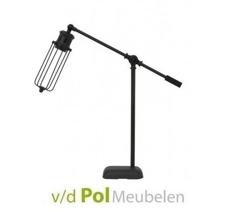 tafellamp-mat-zwart-lamp-light-&-living-metaal-devid-bureaulamp