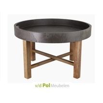 Ronde salontafel betonlook