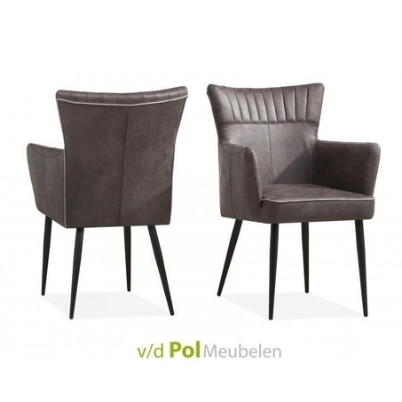 eetkamerstoel-motto-maxfurn-stoel-eetstoel-armstoel-armleuning-zwarte-metalen-poot-leem-kiezel-gladstone-stof-royale-zit-eettafel-kiezel