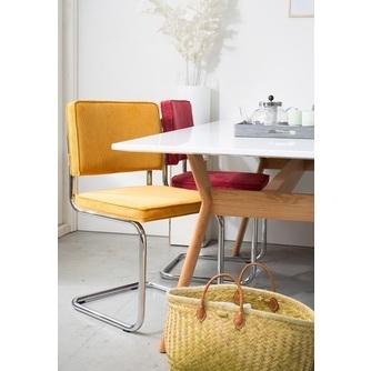 eetkamerstoel-eetstoel-stoel-ridge-rib-zuiver-geel-oranje-rood-chroom-chromen-poot-onderstel-groen-bruin-grijs-zwart-hip-designstoel-wipper-freischwinger