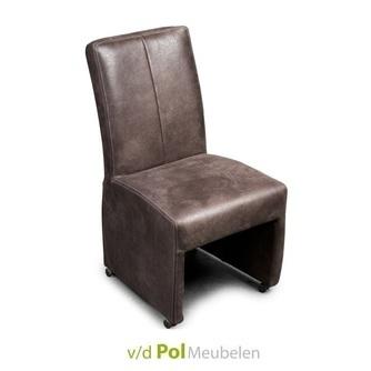 stoel-zwolle-eetkamerfauteuil-eekamerstoel-eetstoel-stiknaad-haveco-landelijk-dicht-onderstel-dichte-poot-wieltjes-wielen-parketwielen-handgreep