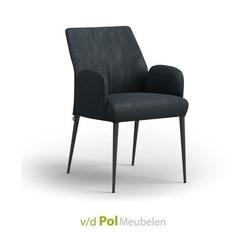 eetkamerstoel-eetstoel-stoel-armleuning-armstoel-enora-mobitec-metalen-poot-zwart-stof-leer-modern-stoer-industrieel