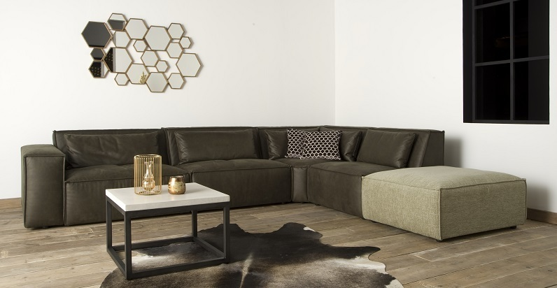 hoekbank-chicago-bankstel-loungebank-sofa-hoek-tower-living-elementen-module-leder-bruin-groen-bruingroen-legergroen-lichtgroen-hocker-stoer-industrieel-modern