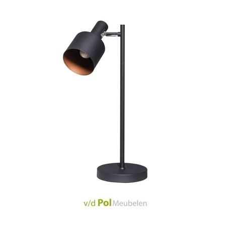 tafellamp-bureaulamp-lamp-nachtkastje-nachtkast-leeslamp-tafel-sledge-metaal-modern-industrieel-ronde-kap-zwart-mat-brons-kapje-zebo