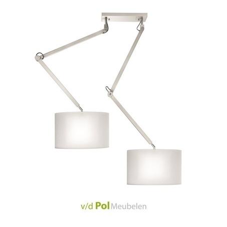 pendellamp-hanglamp-twee-2-lichts-lichtbronnen-nikkel-metaal-verstelbaar-draaibaar-eettafel-tafel