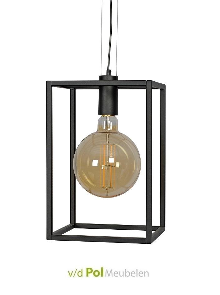 Hanglamp Kubus Ztahl - inclusief XXL LED lichtbron