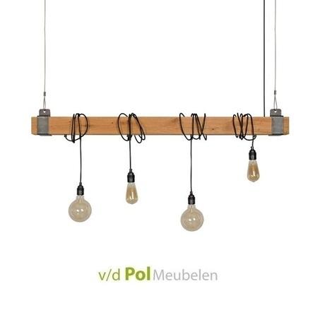 lamp-hanglamp-rustiek-eikenhouten-balk-ztahl-snoer-zwart-industrieel-landelijk-stoer-4-vier-lichtbronnen