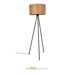 vloerlamp-lamp-woodland-fineer-hout-essenhout-dun-hout-lampenkap-kap-lampenvoet-zwart-metaal-bouwpakket-modern-stoer-zuiver-industrieel-elegant-dun-hout