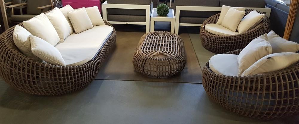 Royale ronde loungeset cocoon van applebee for Cocoon kussen