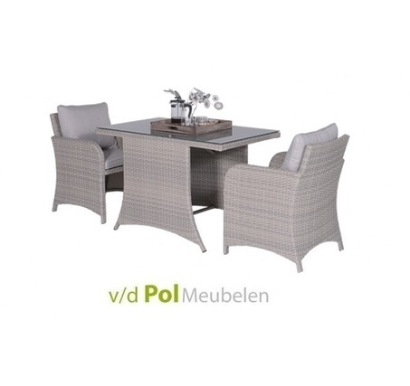 wicker balkonset tuintafel 2 tuinstoelen in showroom. Black Bedroom Furniture Sets. Home Design Ideas