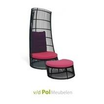 Loungestoel Cage footstool Applebee