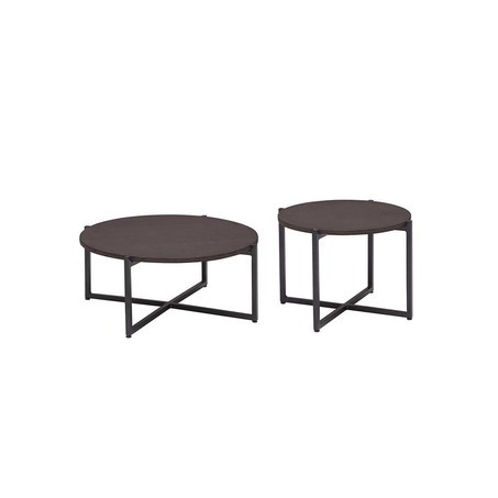 set 2 ronde loungetafels soul applebee in kleur zwart