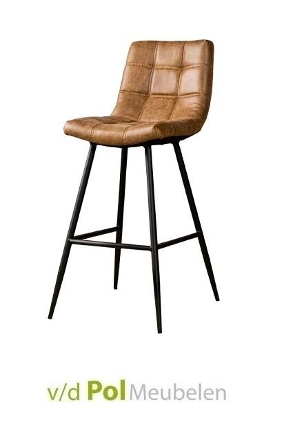 barstoel-navarra-cognac-industrieel-stoer-metaal-fabric-kunstleer-lichtbruin-tower-living