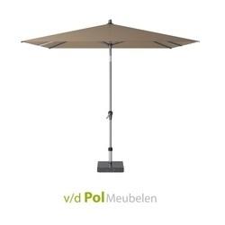 parasol-polyester-250-x-250-cm-taupe-weerbestendig-antraciet-knikmechanisme