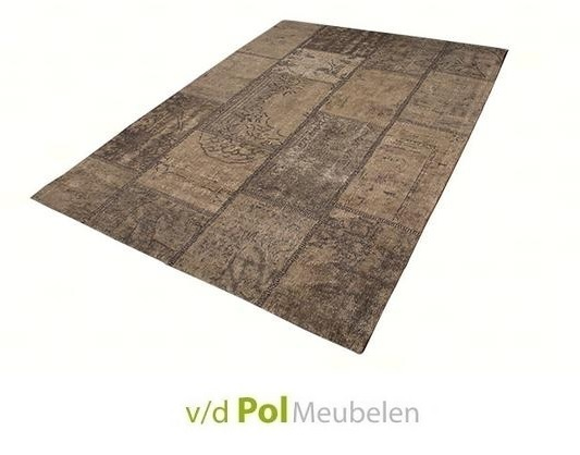 Vloerkleed Goa Patch taupe