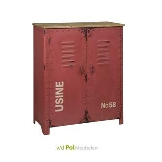 opbergkast-meidenkast-kleine-kast-rood-retro-industrieel-stoer-antiek-vintage
