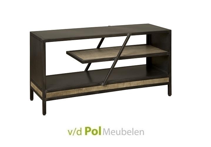 boekenrek-120-cm-metaal-mangohout-modern-industrieel-stoer-lage-kast-klein-boekenkast