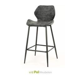 barstoel-vlindermodel-antraciet-metalen-poot-PU-leder-industrieel-stoer
