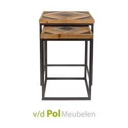 set-2-bijzettafel-joy-zuiver-metaal-onderstel-motief-sparhout-fir-wood-industrieel-stoer