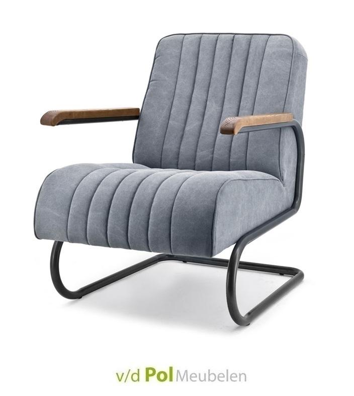 fauteuil-arthur-metaal-eikenhout-armleuning-stof-grijs-eleonora