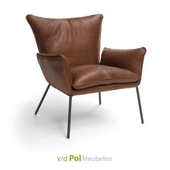 fauteuil-gaucho-armstoel-stoer-industrieel-bree's-new-world-leder-gogain-metalen-onderstel