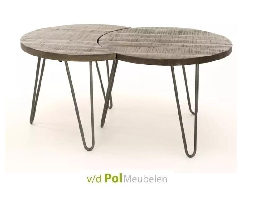 Set salontafels antiek leem