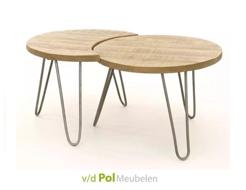 Set salontafels antiek blank