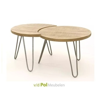 set-salontafels-mangohout-twee-blank-antiek-metaal-onderstel-stoer-industrieel