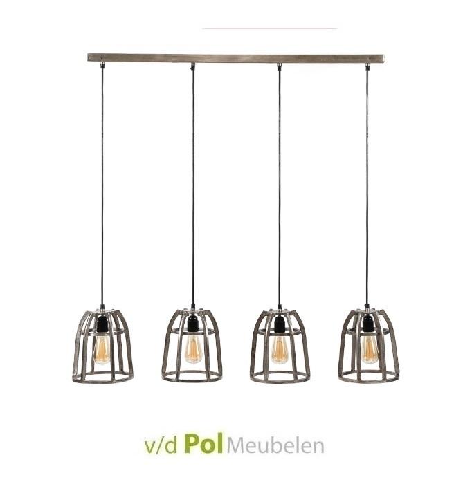 Hanglamp nikkel baskets 4L