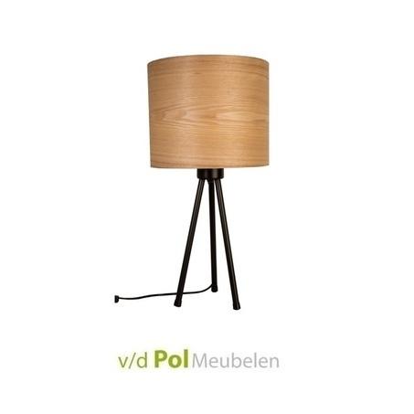 tafellamp-woodland-zwarte-driepoot-fineer-hout-rond-zuiver
