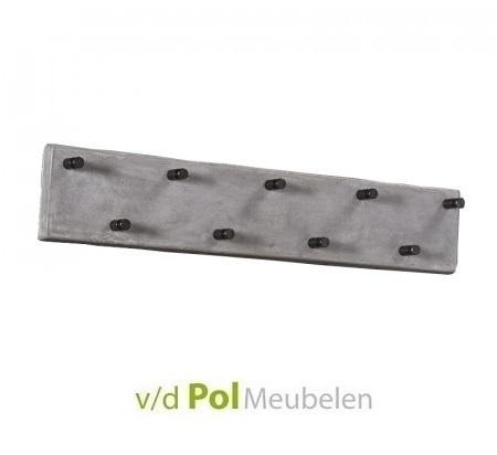 garderobe-kapstok-beton-9-haken-knoppen-jassenrek-modern-stoer-concrete