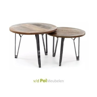 set-salontafel-metaal-staal-industrieel-stoer-hardhout-gerecycled-hout-rond
