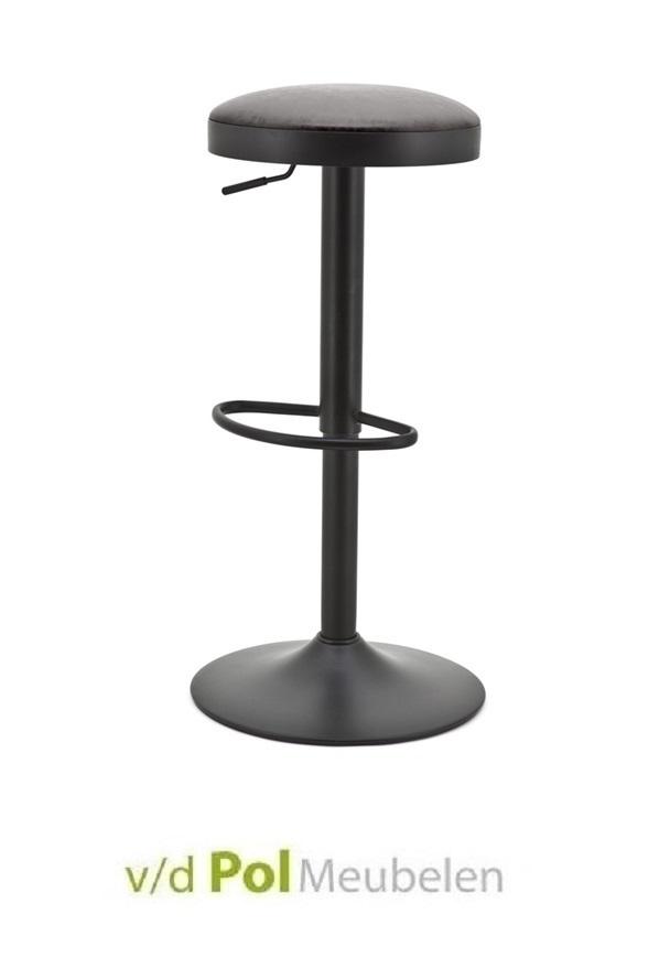 barkruk-barstoel-seattle-byboo-zwart-dop-pu-imitatieleer-antraciet-verstelbaar