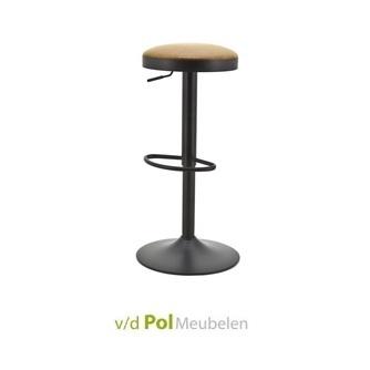 barkruk-barstoel-seattle-byboo-zwart-dop-pu-imitatieleer-cognac-verstelbaar-0624