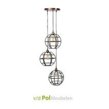 Hanglamp 3 lichts metaal