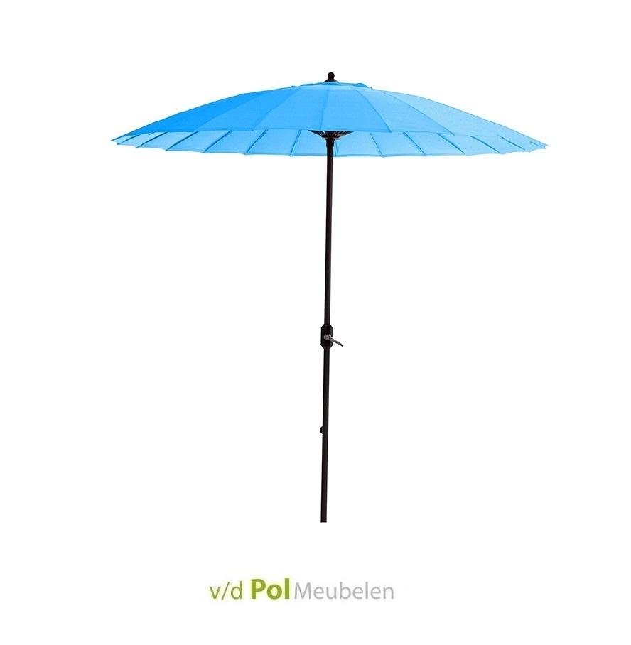 Parasol  Ø250 cm donkergrijs/lichtblauw