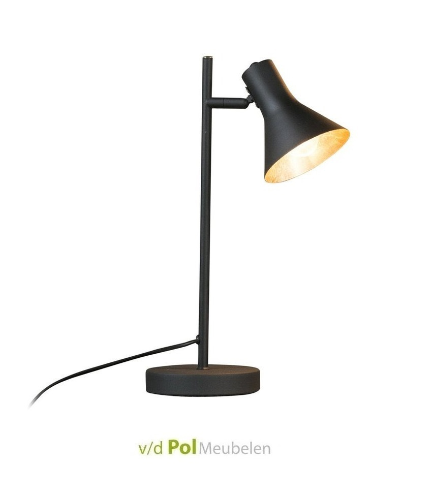 Tafellamp mat zwart cup