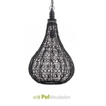Hanglamp staaldraad zwart